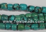 CNT212 15.5 inches 7*4mm � 7*6mm drum natural turquoise beads wholesale