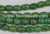 CNT214 15.5 inches 6*8mm drum natural turquoise beads wholesale