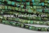 CNT215 15.5 inches 2.5*3mm heishi natural turquoise beads wholesale