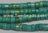CNT218 15.5 inches 3.5*4.5mm heishi natural turquoise beads wholesale