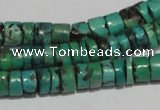 CNT220 15.5 inches 3*7mm � 5*9mm heishi natural turquoise beads