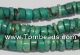 CNT221 15.5 inches 3*8mm � 5*10mm heishi natural turquoise beads