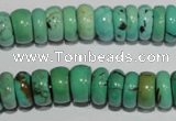 CNT223 15.5 inches 5*11mm rondelle natural turquoise beads wholesale