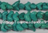 CNT231 15.5 inches 7*12mm animal natural turquoise beads wholesale