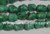 CNT235 15.5 inches 8*10mm bone natural turquoise beads wholesale