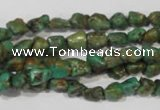 CNT242 15.5 inches 5*6mm - 6*10mm nuggets natural turquoise beads