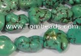 CNT244 15.5 inches 12*16mm - 15*20mm nuggets natural turquoise beads