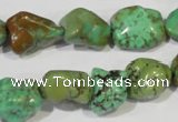 CNT245 15.5 inches 12*14mm - 14*16mm nuggets natural turquoise beads