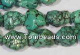 CNT248 15.5 inches 12*14mm - 15*18mm nuggets natural turquoise beads
