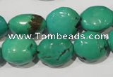 CNT267 15.5 inches 10*15mm - 18*22mm nuggets natural turquoise beads