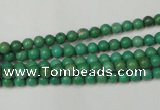 CNT350 15.5 inches 4mm round turquoise beads wholesale
