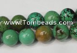 CNT354 15.5 inches 12mm round turquoise beads wholesale