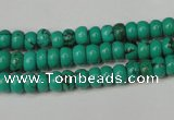 CNT362 15.5 inches 4*6mm rondelle turquoise beads wholesale