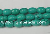 CNT368 15.5 inches 7*10mm rice turquoise beads wholesale