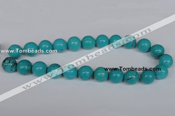 CNT45 16 inches 16mm round natural turquoise beads wholesale