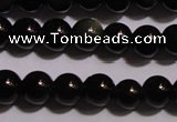 COB21 15.5 inches 4mm round black obsidian beads wholesale
