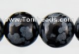 COB23 15 inches 8mm round snowflake obsidian gemstone beads wholesale
