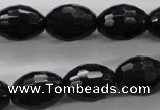 COB375 15.5 inches 13*18mm faceted rice black obsidian beads