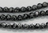 COB51 15.5 inches 6mm round Chinese snowflake obsidian beads