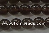 COB600 15.5 inches 6mm round ice black obsidian beads wholesale
