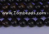 COB650 15.5 inches 4mm round gold black obsidian beads wholesale