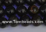 COB653 15.5 inches 10mm round gold black obsidian beads wholesale