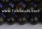 COB654 15.5 inches 12mm round gold black obsidian beads wholesale