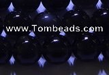 COB703 15.5 inches 10mm round ice black obsidian beads wholesale
