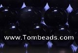 COB704 15.5 inches 12mm round ice black obsidian beads wholesale