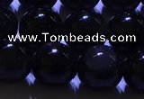 COB713 15.5 inches 10mm round ice black obsidian beads wholesale