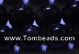 COB714 15.5 inches 12mm round ice black obsidian beads wholesale