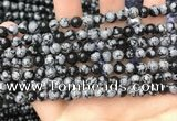 COB759 15.5 inches 6mm round snowflake obsidian beads wholesale
