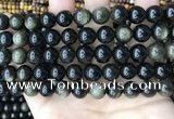 COB768 15.5 inches 10mm round golden obsidian beads wholesale