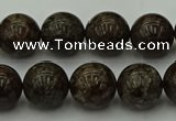 COB803 15.5 inches 10mm round red snowflake obsidian beads