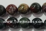 COJ305 15.5 inches 14mm round Indian bloodstone beads wholesale