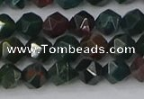 COJ320 15.5 inches 6mm faceted nuggets Indian bloodstone beads