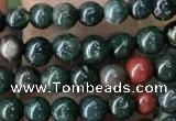 COJ330 15.5 inches 4mm round Indian bloodstone beads wholesale