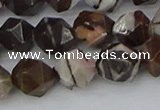 COJ373 15.5 inches 10mm faceted nuggets outback jasper beads