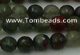 COJ462 15.5 inches 8mm faceted round blood jasper beads wholesale