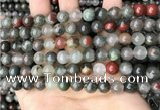 COJ482 15.5 inches 8mm round blood jasper beads wholesale
