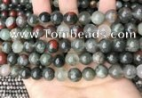 COJ483 15.5 inches 10mm round blood jasper beads wholesale
