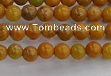 COJ600 15.5 inches 4mm round orpiment jasper beads wholesale