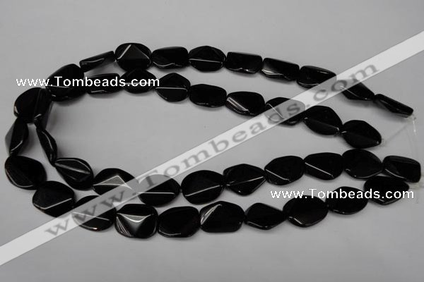 CON105 15.5 inches 15*20mm cut oval black onyx gemstone beads