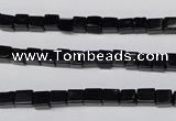 CON30 15.5 inches 4*4mm cube black onyx gemstone beads
