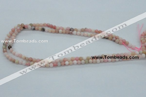 COP01 15.5 inches 5mm round natural pink opal beads wholesale
