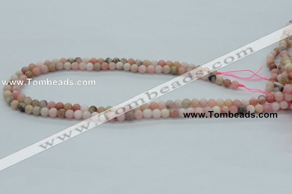 COP02 15.5 inches 6mm round natural pink opal beads wholesale