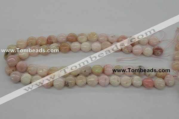 COP07 15.5 inches 13mm flat round natural pink opal beads wholesale