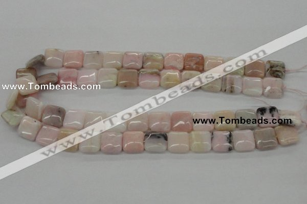 COP10 15.5 inches 14*14mm square natural pink opal beads wholesale