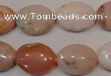 COP1025 15.5 inches 15*20mm oval natural pink opal gemstone beads