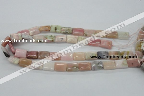COP12 15.5 inches 13*18mm rectangle natural pink opal beads wholesale